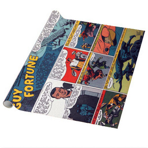Vintage Black Heroes Wrapping Paper Sheets - Guy Fortune - CST11 - Package Of 5