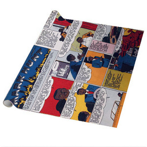 Vintage Black Heroes Wrapping Paper Sheets - Mark Hunt - CST10 - Package Of 5