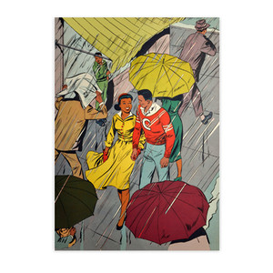 Afrotopia Notecards - Vintage Rain - Package Of 10