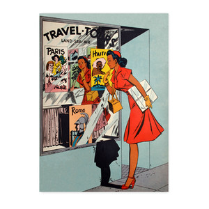 Afrotopia Postcards - Vintage Travel Agency - Package Of 10