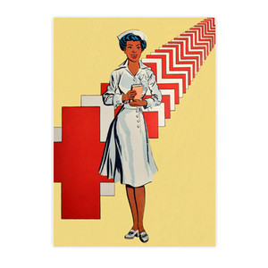 Afrotopia Postcards - Vintage Nurse - Package Of 10