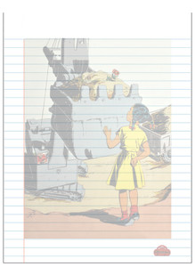 Afrotopia Notepad - Vintage Girl in Yellow