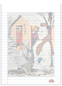 Afrotopia Notepad - Vintage Snow Man