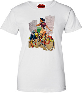 Afrotopia Women's T-Shirt - Vintage Bicycle - White