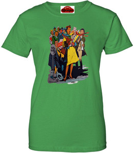 Afrotopia Women's T-Shirt - Vintage Bus Stop - Green