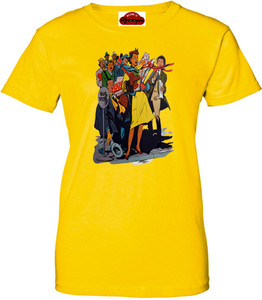 Afrotopia Women's T-Shirt - Vintage Bus Stop - Yellow