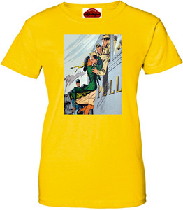 Afrotopia Women's T-Shirt - Vintage Train Kiss - Yellow