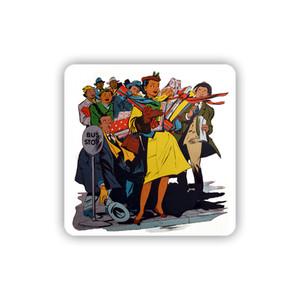 Afrotopia Coasters - Vintage Bus Stop - Package Of 10