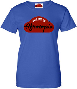Afrotopia Women's T-Shirt - Vintage Logo - Royal Blue