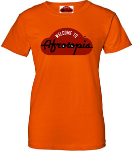 Afrotopia Women's T-Shirt - Vintage Logo - Orange