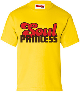 SuperBad Soulware Girls T-Shirt - Soul Princess - Yellow - BRR