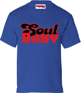 SuperBad Soulware Kids T-Shirt - Soul Baby - Royal Blue - RB