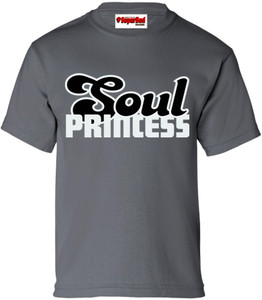 SuperBad Soulware Girls T-Shirt - Soul Princess - Charcoal - GRB