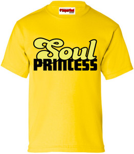 SuperBad Soulware Girls T-Shirt - Soul Princess - Yellow - BY