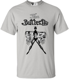 Vintage Black Heroines Men's T-Shirt - The Butterfly - 1 - Ice Grey