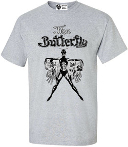 Vintage Black Heroines Men's T-Shirt - The Butterfly - 1 - Sport Grey