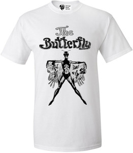 Vintage Black Heroines Men's T-Shirt - The Butterfly - 1 - White