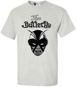 Vintage Black Heroines Men's T-Shirt - The Butterfly - 2 - Ash Grey