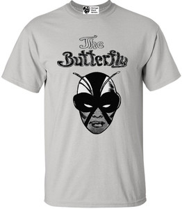 Vintage Black Heroines Men's T-Shirt - The Butterfly - 2 - Ice Grey