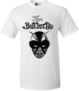Vintage Black Heroines Men's T-Shirt - The Butterfly - 2 - White