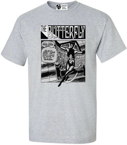 Vintage Black Heroines Men's T-Shirt - The Butterfly - 5 - Sport Grey