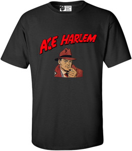Vintage Black Heroes Men's T-Shirt - Ace Harlem - 1 - Black