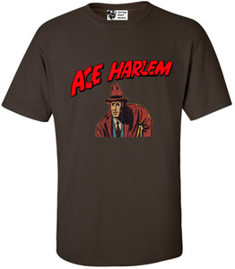 Vintage Black Heroes Men's T-Shirt - Ace Harlem - 4 - Brown