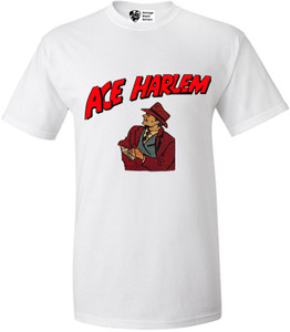 Vintage Black Heroes Men's T-Shirt - Ace Harlem - 8 - White
