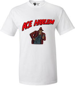 Vintage Black Heroes Men's T-Shirt - Ace Harlem - 10 - White