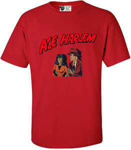 Vintage Black Heroes Men's T-Shirt - Ace Harlem - 11 - Red