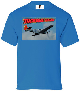Tuskegee Redtails Boys T-Shirt - 4 - Sapphire Blue