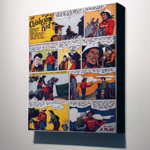 Vintage Black Heroes 14x12 Canvas - The Chisholm Kid - 6