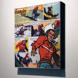 Vintage Black Heroes 14x12 Canvas - The Chisholm Kid - 7a