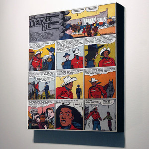 Vintage Black Heroes 14x12 Canvas - The Chisholm Kid - 8