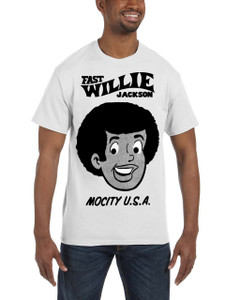 Fast Willie Jackson Men's T-Shirt - Fast Willie Jackson - 1B - White