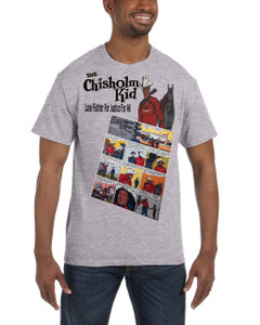 Vintage Black Heroes Men's T-Shirt - The Chisholm Kid - Comic 8 - Sport Grey