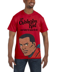 Vintage Black Heroes Men's T-Shirt - The Chisholm Kid - Color 4 - Red
