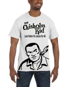 Vintage Black Heroes Men's T-Shirt - The Chisholm Kid - Black Cut Out 3 - White
