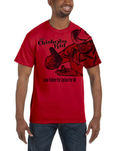 Vintage Black Heroes Men's T-Shirt - The Chisholm Kid - Black 5 - Red