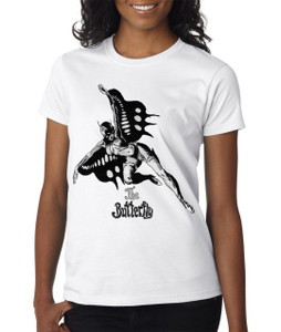 Vintage Black Heroines Women's T-Shirt - The Butterfly - 7 - White