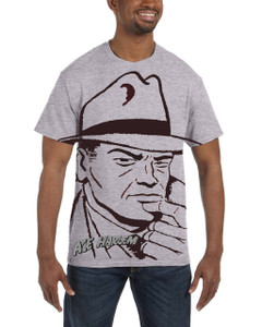 Vintage Black Heroes Men's T-Shirt - Ace Harlem - H2S1 - Light Grey