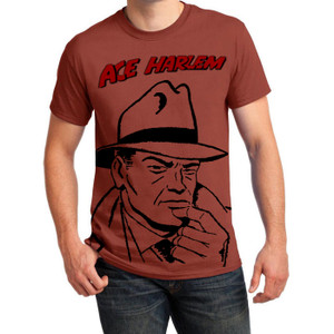 Vintage Black Heroes Men's T-Shirt - Ace Harlem - 1CO - Rusty Bronze