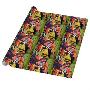 Afrotopia Wrapping Paper Sheets - Vintage Summer Stock - Package Of 5