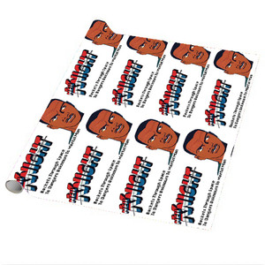 Vintage Black Heroes Wrapping Paper Sheets - Neil Knight - 1 - Package Of 5