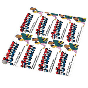Vintage Black Heroes Wrapping Paper Sheets - Neil Knight - 2 - Package Of 5