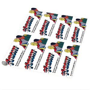 Vintage Black Heroes Wrapping Paper Sheets - Neil Knight - 3 - Package Of 5