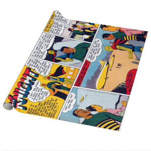 Vintage Black Heroes Wrapping Paper Sheets - Neil Knight - 11 - Package Of 5