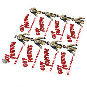 Vintage Black Heroes Wrapping Paper Sheets - Guy Fortune - 1 - Package Of 5