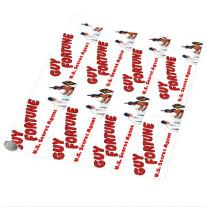 Vintage Black Heroes Wrapping Paper Sheets - Guy Fortune - 4 - Package Of 5