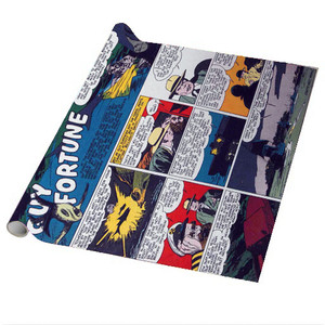 Vintage Black Heroes Wrapping Paper Sheets - Guy Fortune - CST14 - Package Of 5